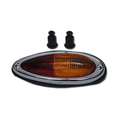 Porsche 356 AT2/B/C Teardrop rear tail light , right hand side, amber/red euro spec 1957-65