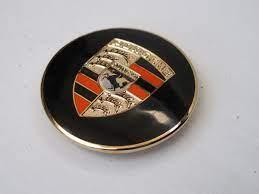 Porsche 356A/B Gold enameled hub cap crest for super hub cap only, each