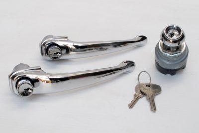 Porsche 356B/C Door handle & ignition set 1957-65
