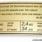 Porsche 911 tyre pressure decal 200km/h