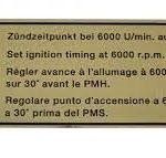 Porsche 911/912 Firing order decal 1965-89