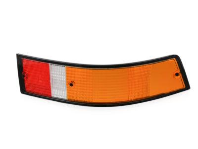Porsche 911/912E Tail light lens, Red/Amber (Euro) left hand side 1973-89