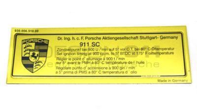 Porsche 911 Engine Timing decal 2.7 Carrera 73-74
