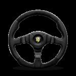 Porsche Momo steering wheel Dark Fighter Black leather/Alcantara 350mm.