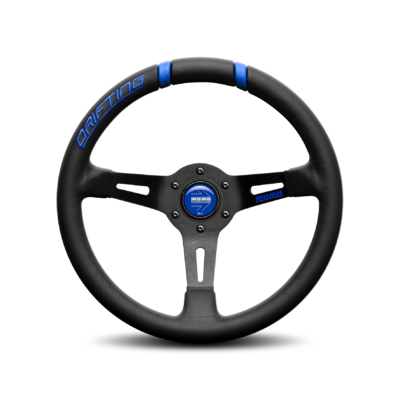Porsche Momo steering wheel Drifting Black lth/blue inserts 330mm 90mm dish.