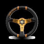 Porsche Momo steering wheel Drifting Black lth/orange inserts 330mm 90mm
