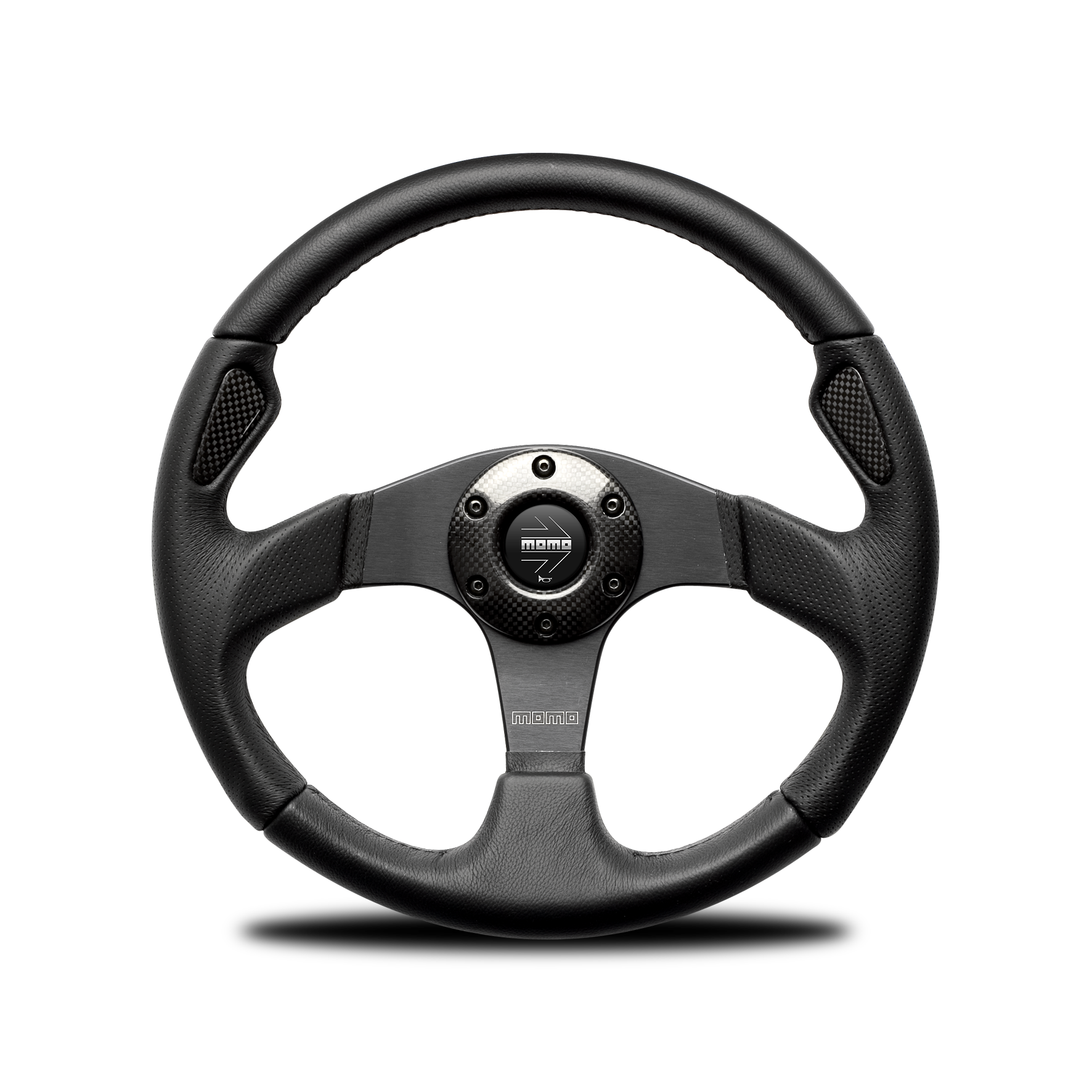 Porsche Momo steering wheel Jet black leather 350mm.