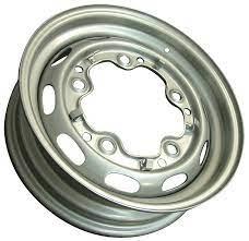 Porsche 356 Silver OE style steel wheel 4.5 x 15 each