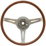 Porsche 356 B/C Les leston style steering wheel 375mm, machine turned finish 1960-65