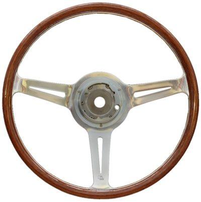 Porsche 356 B/C Les leston style steering wheel 375mm, polished finish 1960-65