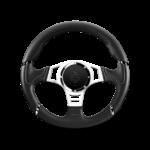 Porsche Momo steering wheel Millenium sport Black/blue profile 350mm.