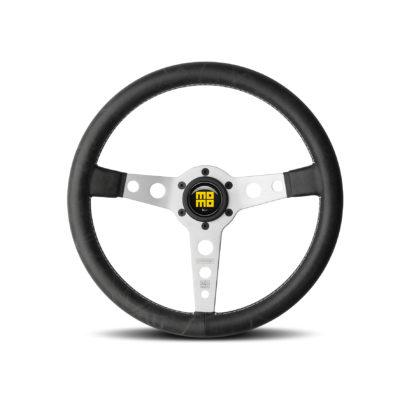 Porsche Momo steering wheel Prototipo Silver/black 350mm.