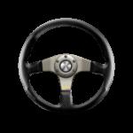 Porsche Momo steering wheel Tuner Silver/black leather 320mm.
