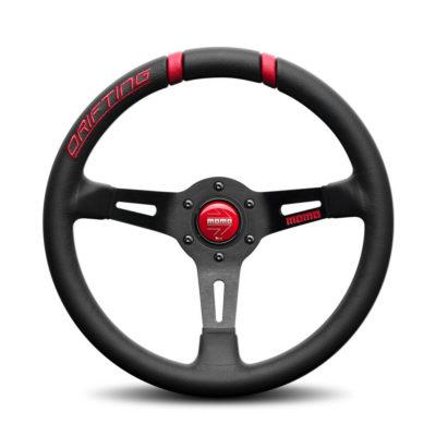 Porsche Momo steering wheel Drifting Black lth/red inserts 330mm 90mm dish.