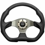 Porsche Momo steering wheel Eagle Black leather anthracite centre 350mm.