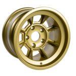"Group 4 Wheel PAG1510P Satin Gold 15 x 10""."