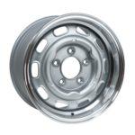 "LMZ1570/23 Satin Silver Cut Dish 15 x 7"" ET23"