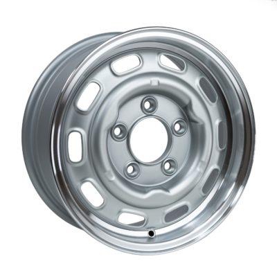 "LMZ1560 Satin Silver Cut Dish 15 x 6""."