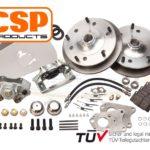 Front CSP Disc Brake Kit for Porsche 356B (retaining original rear drums). 5x205