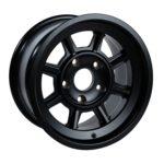 "Group 4 Wheel PAG1580P Satin black 15 x 8""."