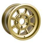 "Group 4 Wheel PAG1580P Satin Gold 15 x 8""."