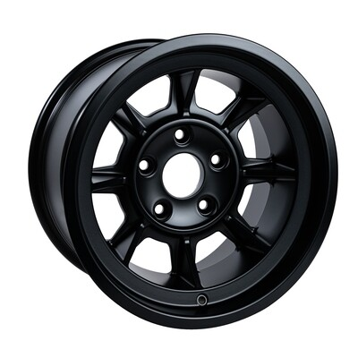 "Group 4 wheel PAG1690 Satin black 16 x 9""."