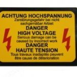 Achtung Decal for Ignition CDi Box. Fits Porsche 911 930 1978-1991