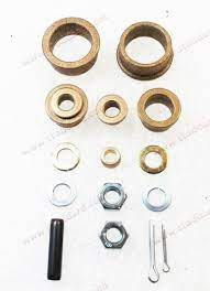 Pedal Bushing Kit , with bronze bushings, pins, lock nut and washers. Fits 911 912 914 1965-1986.