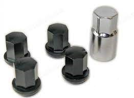 Alloy Wheel Lock Set with Socket. Set of Four. Very Subtle—They Look Just Like Normal Lug Nuts!