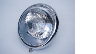 German quality complete headlight for 356B & C models, best quality chrome ring & Bosch marked healdight glass rhd