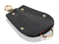 Key Fob Case Pouch for Porsche 356 in black leather