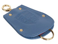Key Fob Case Pouch for Porsche 356 in blue leather
