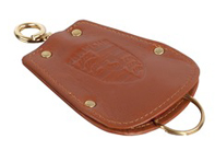 Key Fob Case Pouch for Porsche 356 in brown leather