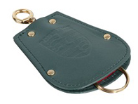 Key Fob Case Pouch for Porsche 356 in green leather