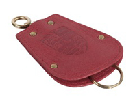 Key Fob Case Pouch for Porsche 356 in red leather