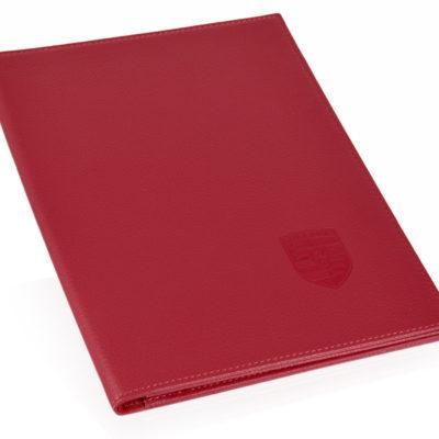 Leather vehicle document folder for Porsche 356