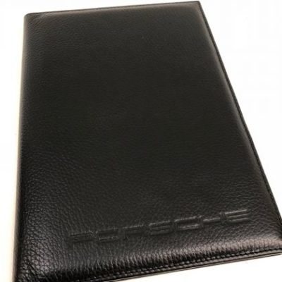 Leather Document wallet, Black, for Porsche 911, 959, 944, 968 and 928 ,1990- onwards