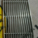 Porsche 356 Engine lid grill, Original stripped and re polished , coupe flat type